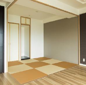 仏間のある切り替え畳の和室を設置